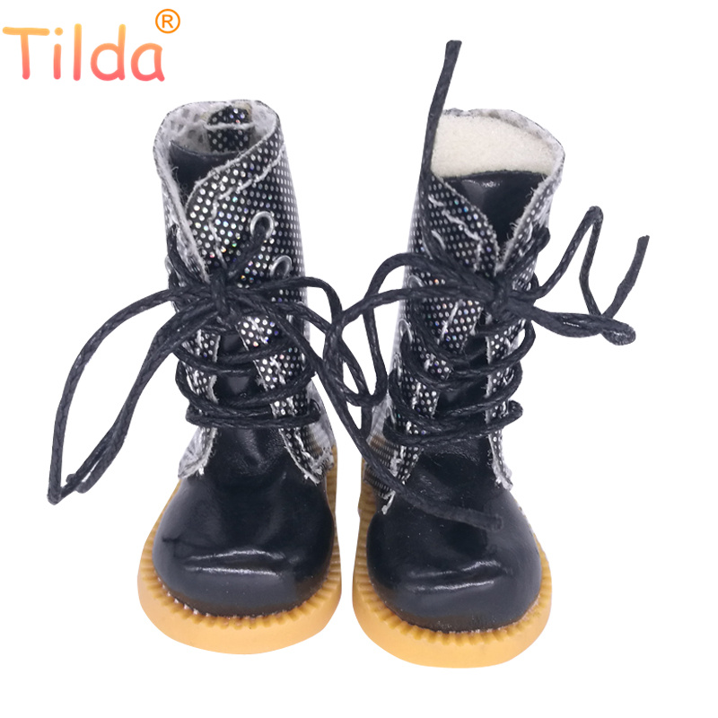 Tilda 1/6 Doll Boots Toy Shoes For Blythe Pullip Doll,4cm Mini Winter Leather Boots Shoes for Blyth Accessories for Dolls Toys цена