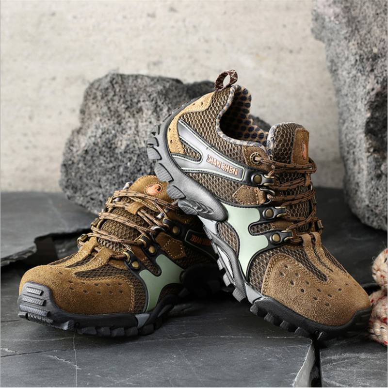 Outdoor Hiking Shoes Men Leather Non-slip Wear Resistant Breathable Sports Tactical Sneakers Men Climbing Camping Trekking ShoesOutdoor Hiking Shoes Men Leather Non-slip Wear Resistant Breathable Sports Tactical Sneakers Men Climbing Camping Trekking Shoes