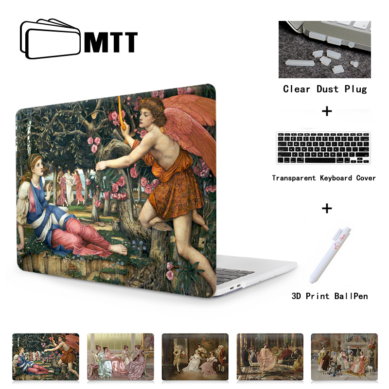 MTT Laptop Case For Macbook Air Pro 11 12 13 15 Retina With Touch Bar 2018 New Cover For Apple Mac Book 13.3 15 Inch Cover A1989