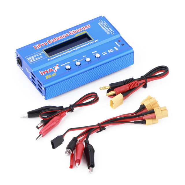 1 Unid 80 W multifunción 1-6 Células de Batería XT60 LiPo Cargador Balanza Digital Al Por Mayor
