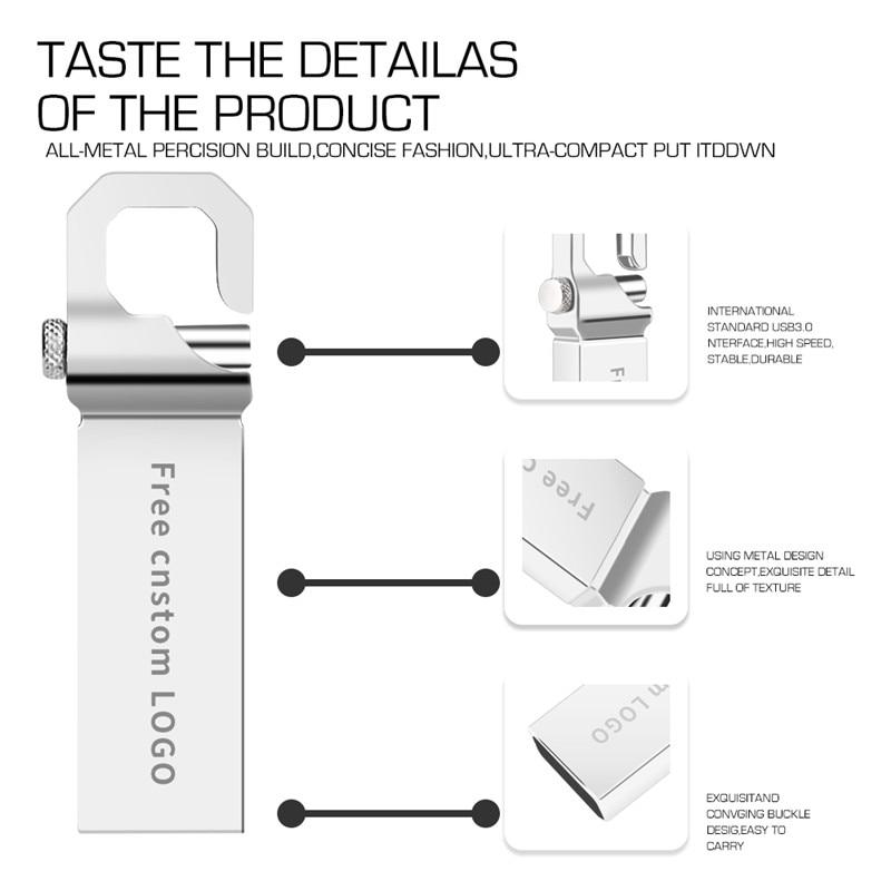 New usb flash drive 32GB flash memory 3.0 high speed pen drive 4gb 8gb 16gb 64gb 128gb pendrive metal bracelet stick Free logo   (16)