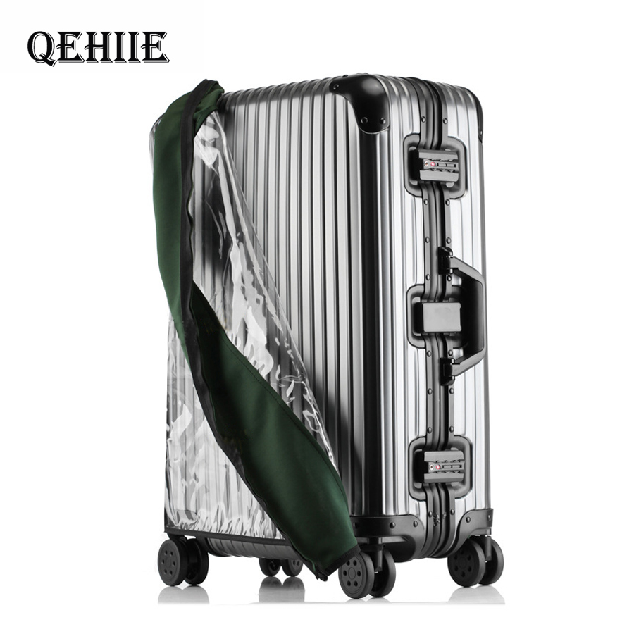 PVC Transparent Luggage Cover For Luggage Elastic Waterproof Trolley Case Rain Bags Travel Suitcase Accessories18-30inch Trolley
