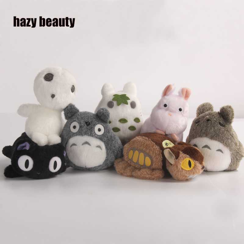 hazy beauty for spirited away plush TOTORO Princess Mononoke Studio Ghibli Miyazaki Puppets Plush Toys Soft Dolls animation doll