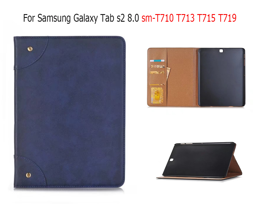 Luxury Business PU leather magnet stand Smart case For Samsung Galaxy Tab s2 8.0 Tab s2 sm-T710 T713 T715 T719 8 inch cover crocodile pattern luxury pu leather case for samsung galaxy tab 4 8 0 t330 flip stand cover for samsung tab 4 8 0 t330 sm t330