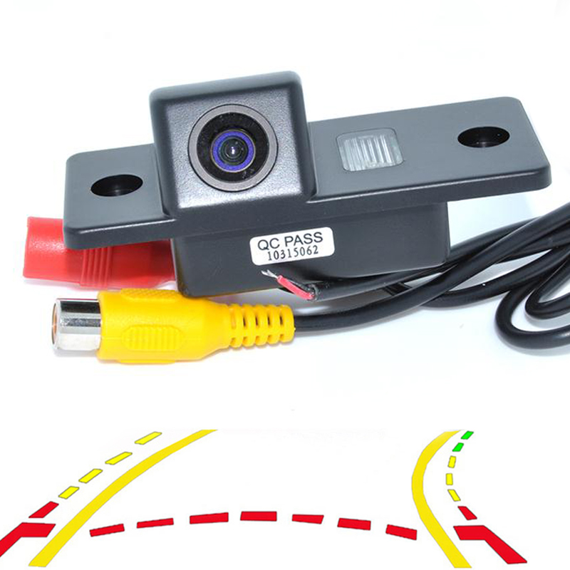 Dynamic Trajectory Tracks Car Rear View Camera For VW Tiguan Touareg Poussin Old Passat Porsche Cayenne Fabia POLO Golf