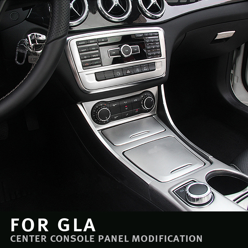 For <font><b>Mercedes</b></font> Benz A GLA CLA Class <font><b>W176</b></font> X156 C117 LHD <font><b>Interior</b></font> Water Cup Holder covers Stickers Panel Frame Trim Car Styling image