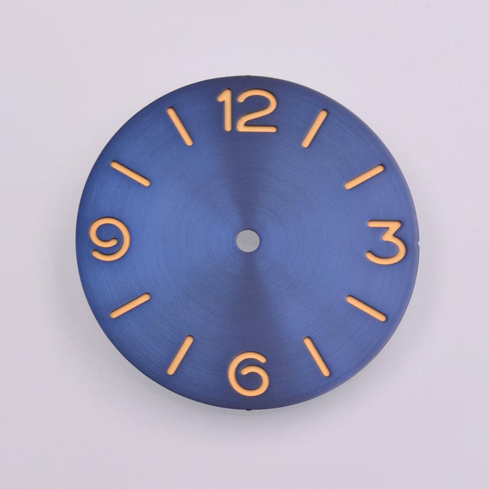 38.9mm parnis sandwich Blue Dial Sterile watch dial fit ETA 6497 6498 <font><b>ST3600</b></font> movement image