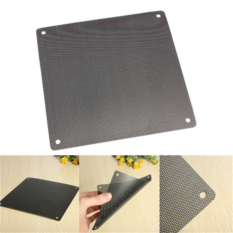 New Arrival 14cmx14cm Computer Cooling Fan Filter PVC 140mm PC Fan Case Dust Filter Strainer Dustproof Mesh Cuttable wi fi роутер tp link wbs210 wbs210