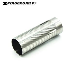 Image 2 - FightingBro cilindro de acero inoxidable para pistola de aire AEG, caja de engranajes de pistola de aire de Paintball M4 AK Gel, 75%, 80%,