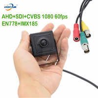 HQCAM Mini AHD Cameera 50fps 60fps AHD + SDI + CVBS Volledige 1080 p HD SDI Mini Box Security Camera metalen Mini Vierkante SDI EN778 + IMX185