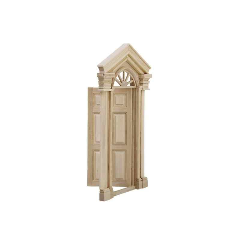 1/12 кукольный домик миниатюрная мебель игрушки аксессуары 4-Панель внешняя деревянная дверь соответствуя рамкой для современных Миниатюрный Кукольный дом