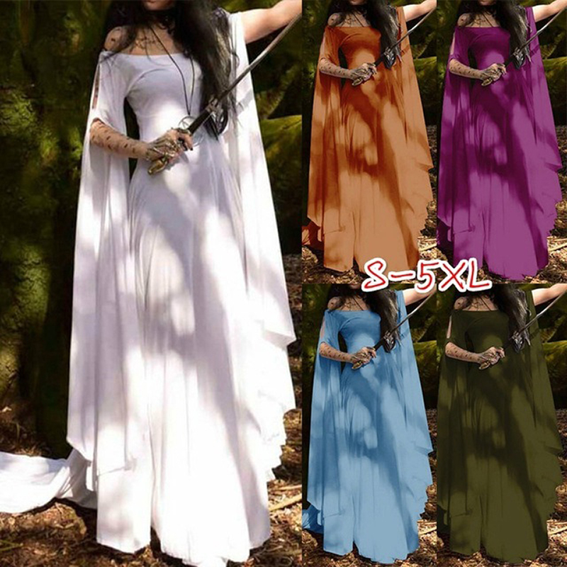 Summer Women Medieval Pixie Dress Faerie Dress Lace Dress Bohemian Gypsy Tribal Dress Size S-5XL Free Shipping
