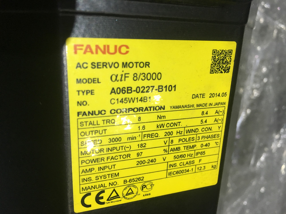 цена на CNC kits Alpha iF 8/3000 FANUC AC SERVO MOTOR A06B-0227-B101