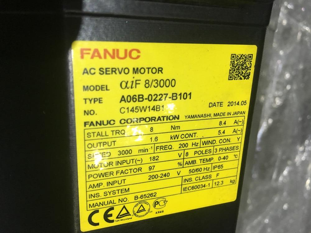 CNC kits Alpha iF 8/3000 FANUC AC SERVO MOTOR A06B-0227-B101 motor cnc controller spindle coder sensor alpha i64 fanuc encoder a860 0365 t001