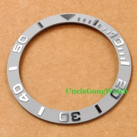 Watch Parts Corgeut 38mm Grey Ceramical Bezel Fit For 40mm SUB Automatic Watches Timepiece Insert For