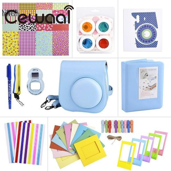 Cewaal Portable 11 In 1 Instant Film Camera Bag Accessories Kit Set for Fuji Fujifilm Instax Mini 8 Cam hot New Random Color
