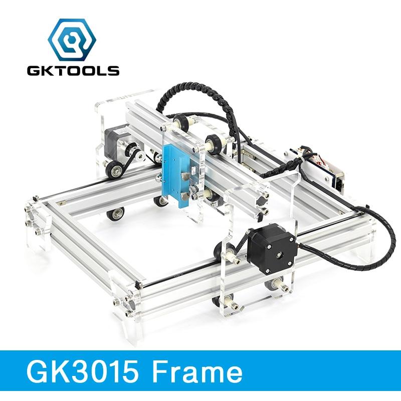 GKTOOLS 500 mw 2500 mw 5500 mw 20*13 cm Mini CNC Bois Graveur Laser Machine de Gravure BRICOLAGE acrylique, PWM, Benbox GRBL EleksMaker