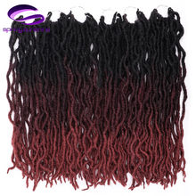 12/18Inch Crochte Braids Short Faux Locs Curly Soft Hair Synthetic Hair For Braid Extension Kanekalon Hair For Any Women(China)
