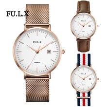 FULX Fashion Quartz Watch Women Watches Ladies Girls Famous Brand Wrist Watch Men Female Clock Montre Femme Relogio Feminino
