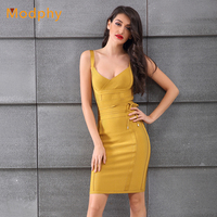 women bandage dress 2018 summer autumn sexy spaghetti strap ladies plus size mini tight knitted club party bodycon vestido HL917