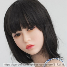 WMDOLL Cute Silicone Sex Dolls Head For Lifelike Oral Sex Adult Love Doll Realistic TPE Sex doll Heads