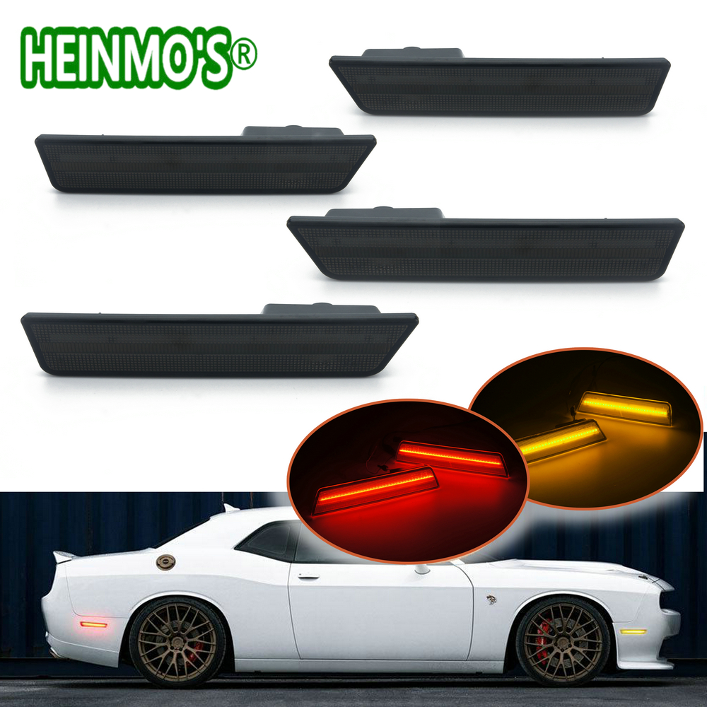 2 Pairs 1 For Front 1 For Rear Side Marker Lamps Turn Signals SMD LED Lights