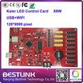 X8w светодиодный контроллер wi-fi карты 128*9999 пикселей rgb управления программируемый светодиодный рекламный щит светодиодный экран такси верхний знак