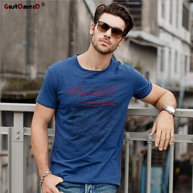 GustOmerD Brand New T shirt Man's Fashion Collect Printed T shirts Men's Pure Cotton O-neck Tshirt Short Sleeve T-shirt S-XXL