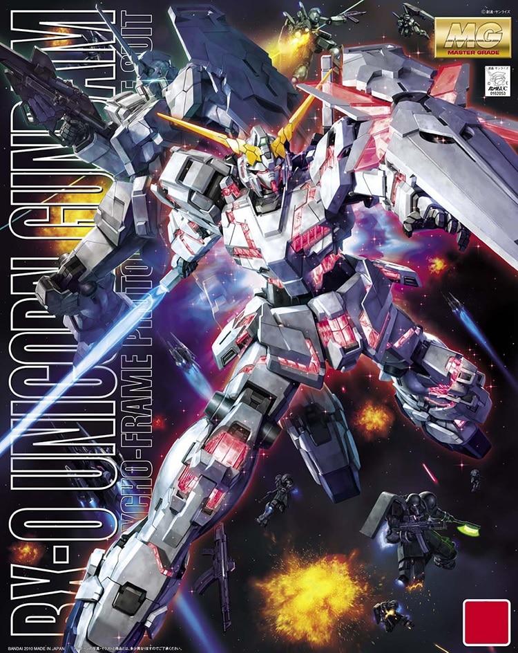 Japaness Original Gundam MG 1/100 Model  RX-0 UNICORN GUNDAM SEED Mobile Suit Kids Toys