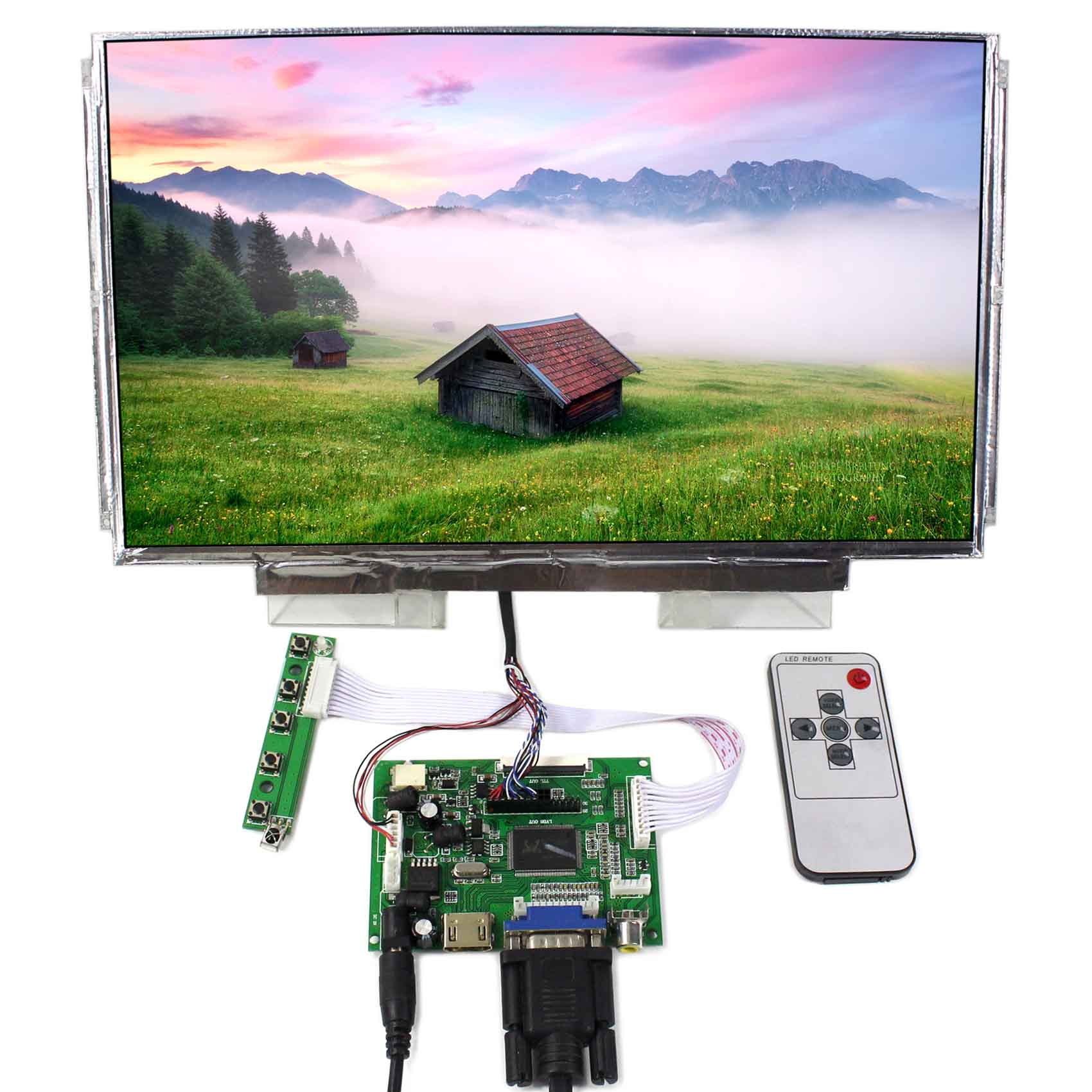 HDMI VGA 2AV LCD Control Board 13.3inch 1366x768 N133BGE LP133WH2 LTN133AT16 LCD 13 3 laptop replacement screen lp133wh2 tl m5 lcd display panel monitor lp133wh2 tlm5 04w1768 lvds 1366x768 free shipping