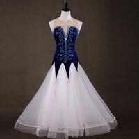 2018 ballroom dance competition dresses standard dance dresses Spandex ballroom dance dresses standard Customizable size color