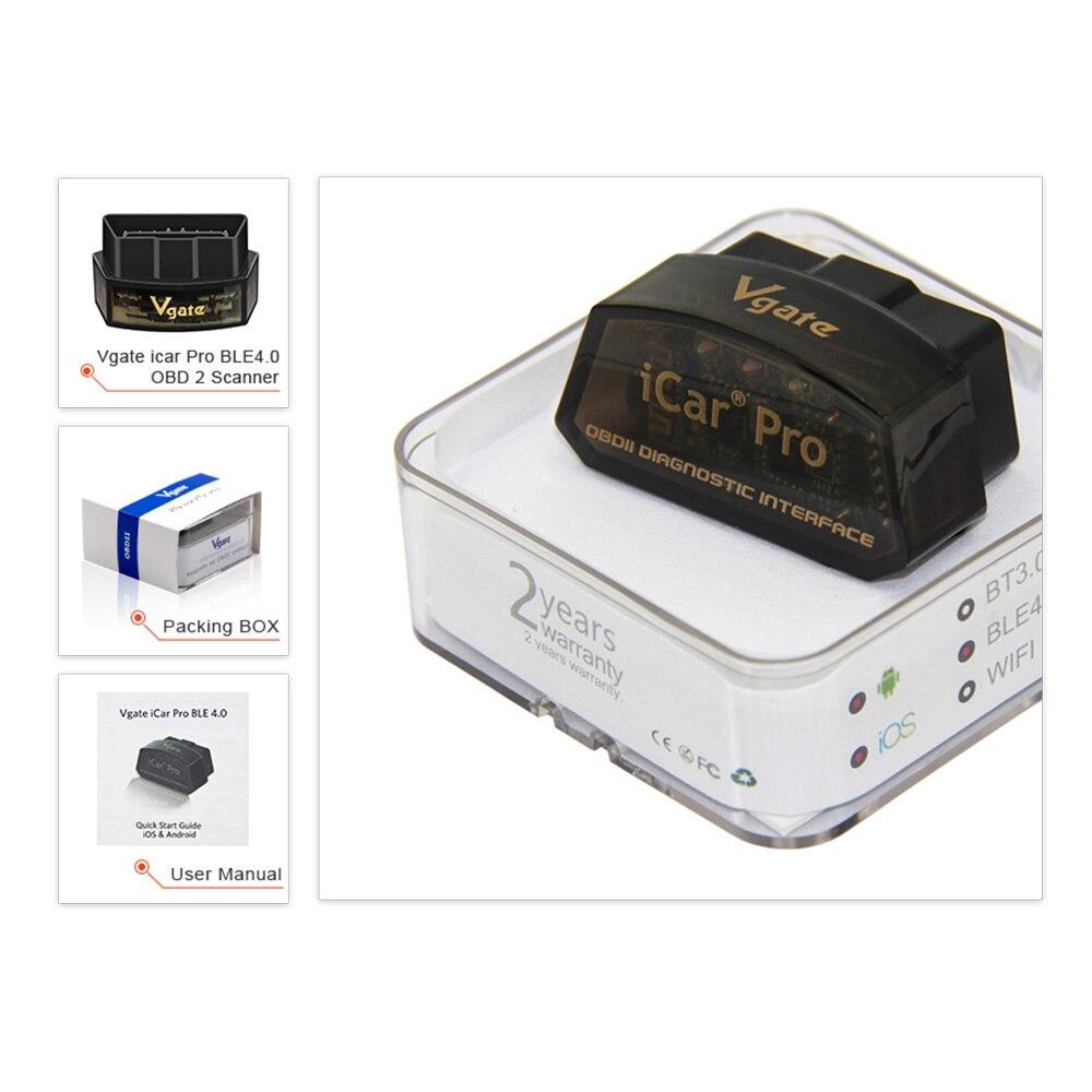 Image 5 - (5pcs/lot)Vgate icar Pro elm 327 bluetooth obd2 scanner scan pro car Diagnostic Tool OBDII Code reader elm327 V2.1 scan tool on