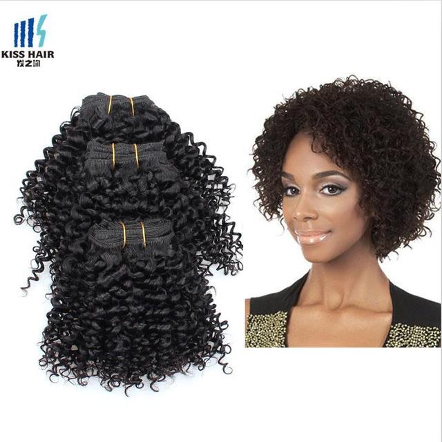 Peruvian Curly Virgin Hair Extension 8 Inch Kinky Curly Kiss Hair