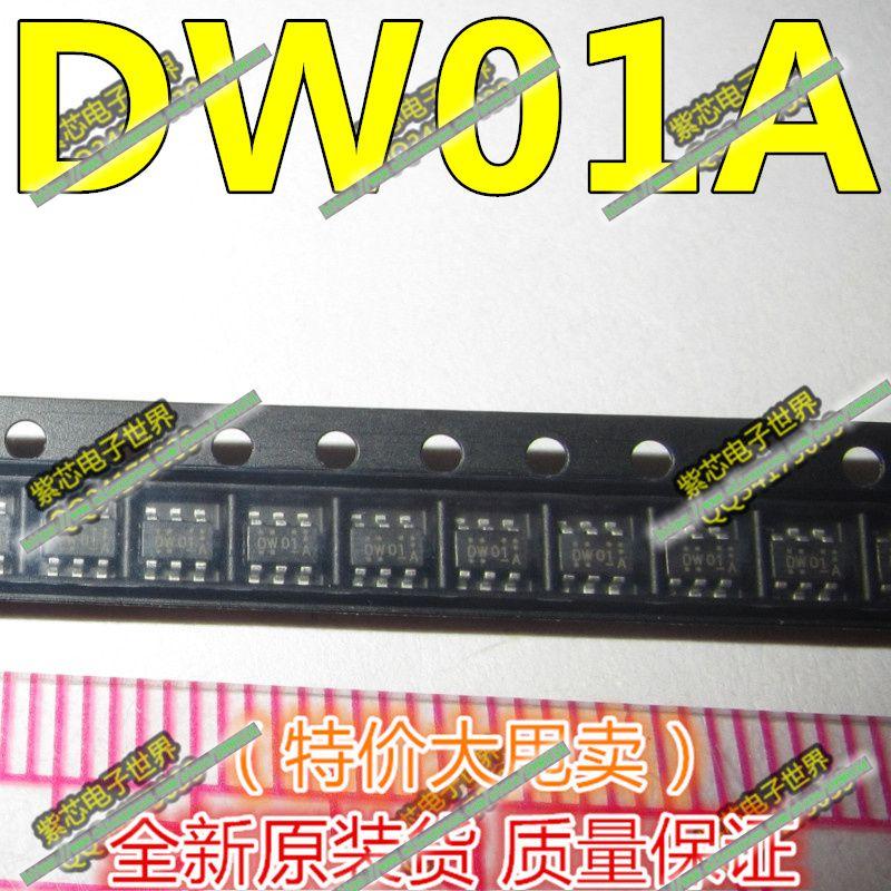 10pcs/lot DW01 SOT-23 DW01A In Stock