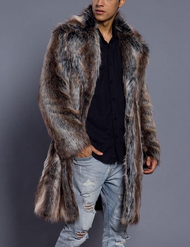 Men Fur Coat Winter Faux Mink Fur Outwear Coats Campera Cuero Hombre Abrigo Mens Jackets chaqueta moto hombre Overcoats Clothes