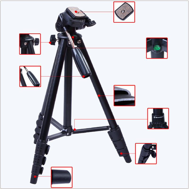 VCT 681RM YUNTENG professional Tripod with Damping Head for 550D 600D 500D 5D Carrying free shipping in Tripods from Consumer Electronics