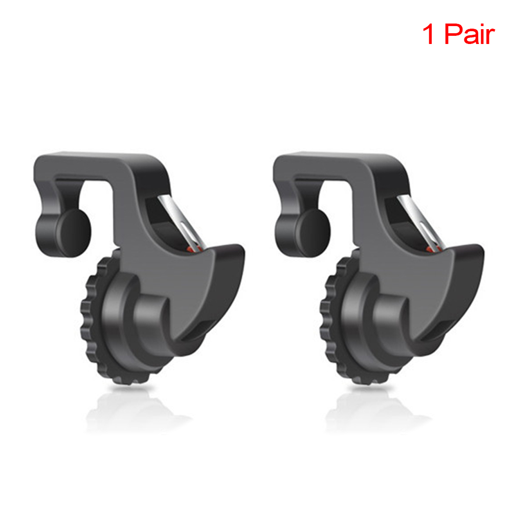 1 Pair Thin Arm <font><b>Shooter</b></font> Adjustable Knob Phone Mobile Controller Gaming Handle Trigger Fire Button Handle image