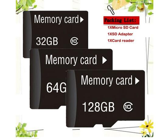 2019 Hot New Memory Card 64GB 128GB Micro Sd Card 32GB Class 10 TF Card Pendrive 16GB 8GB Microsd Card 4GB 2GB Send Adapter