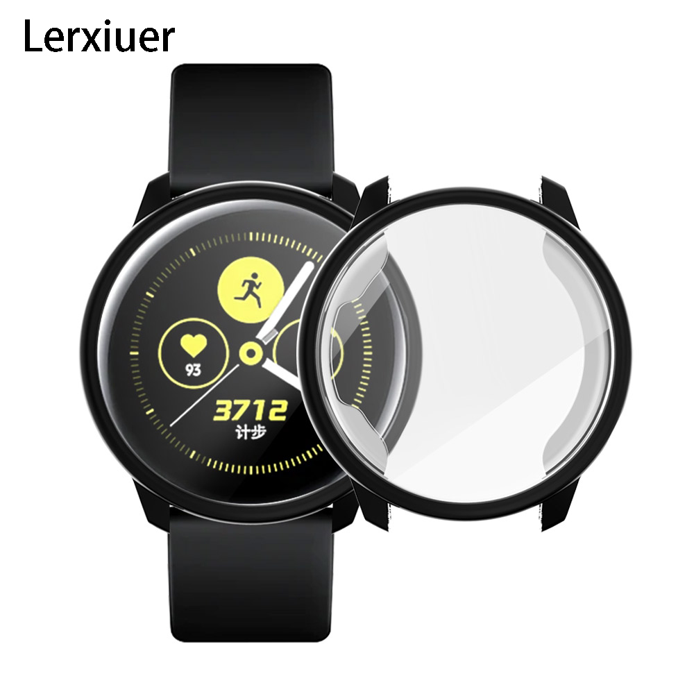 Cover For Samsung Galaxy Watch Active Case Bumper Protector Full Coverage Soft Silicone Galaxy Watch Screen Protection Case