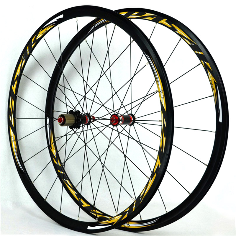 700C Carbon Fiber 30MM Rim Wheelset stainless steel spoke  V/C Brakes  Road bike wheelset