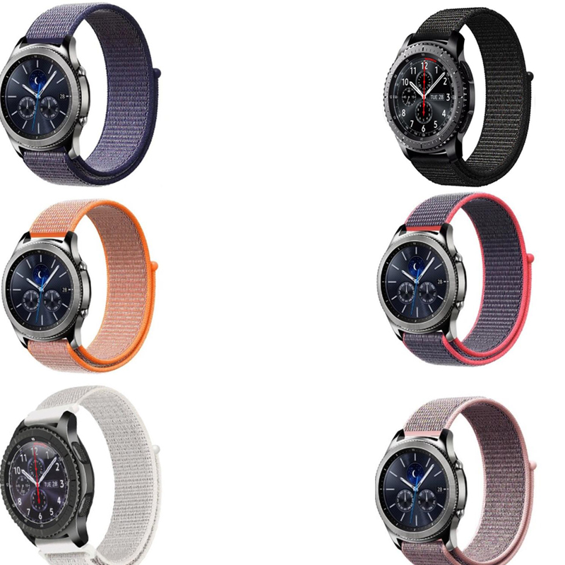 strap for Samsung galaxy watch 42 46 active Gear s3 S2 amazfit 2s 1 pace bip huawei watch GT 2 pro Ticwatch E 1 pro nylon band