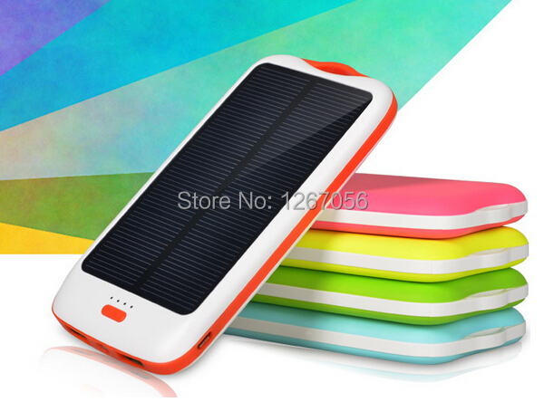 USB energia solar Banco de Energia Móvel 10000 mAh Li Polímero Originais Carregador de Bateria Bateria Externa Pacote Carregador Portátil Fino