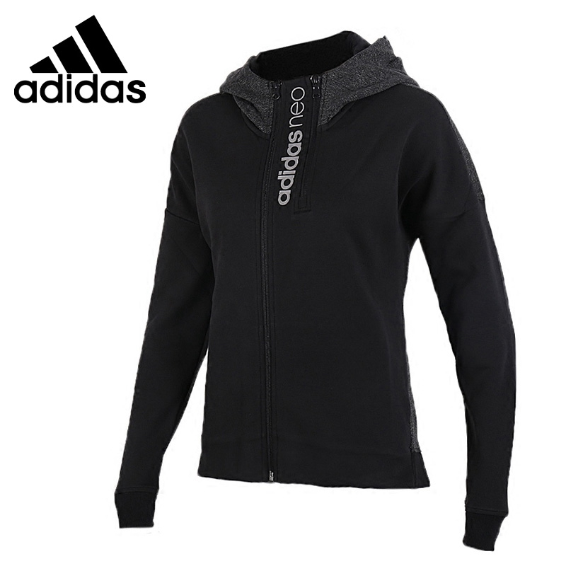 Original New Arrival 2018 Adidas Neo Label W CS Zip Hoodie Women's jacket Hooded Sportswear plaid insert side zip hooded tee