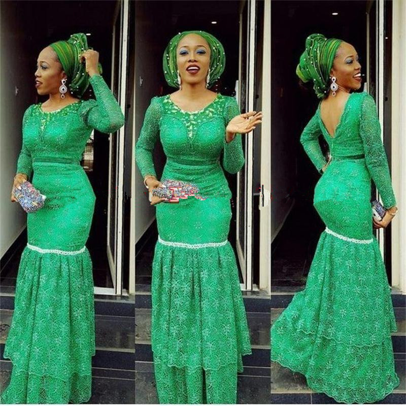 Vestidos-De-Noche-2016-Nigeria-Aso-Ebi-Green-Mermaid-Eveing-Dresses-With-Long-Sleeves-African-Backless