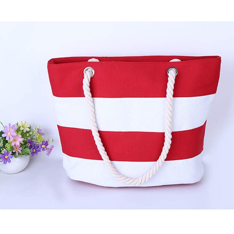 2016 New Brand Casual Stripe Canvas Women Handbags Vintage Women Messenger Bag Fashion Ladies Shoulder Tote