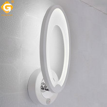 White Modern Wall Lamp 7W 175-265V AC Bedside Bedroom Stair Indoor Lighting LED Sconce Reading light Hotel Decorative