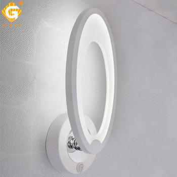 White Modern Wall Lamp 7W 85-265V AC Bedside Bedroom Stair Indoor Lighting LED Wall Sconce Reading light Hotel Decorative Lamp modern wall sconce wood acrylic led wall light bedroom bedside lamp reading lamp round shape warm white led bedroom lighitng