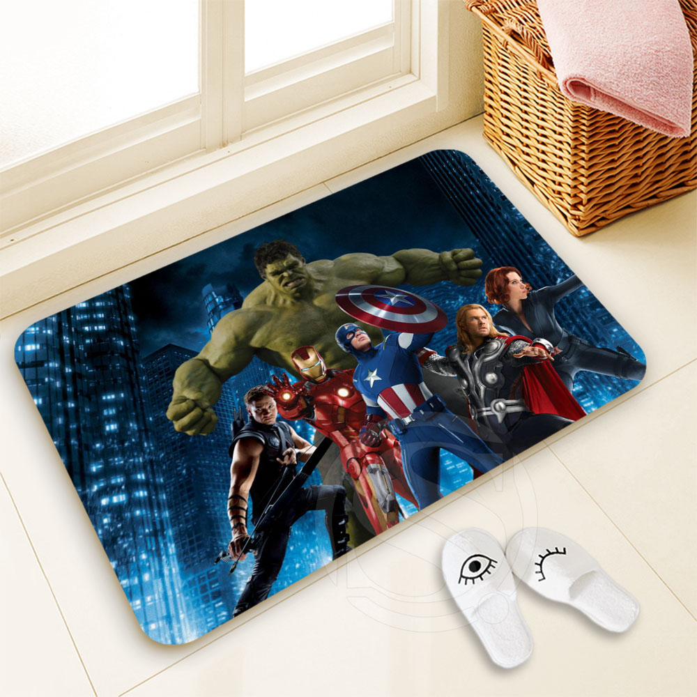 H-P249 Custom Avengers #1 Doormat Home Decor 100% Polyester Pattern Door mat Floor Mat foot pad SQ00722-@H0249