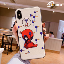 Cute Cartoon SupermanCaptain America Iron Man Batman Hulk Miracle Avengers Soft Silicone Case for iPhone X 7 8 6s Plus XR XS MAX