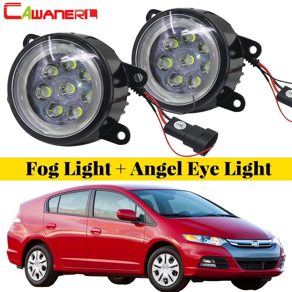 цена на Cawanerl For Honda Insight 2010 2011 2012 2013 2014 Car LED Lamp Fog Light Angel Eye DRL Daytime Running Light 12V 2 Pieces